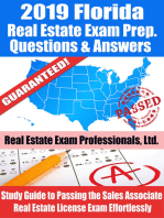 2019 Florida Real Estate Exam Prep Questions, Answers & Explanations
