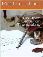 An Open Letter on Translating