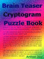 Brain Teaser Cryptogram Puzzle Book