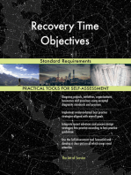 Recovery Time Objectives Standard Requirements