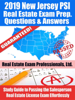 2019 New Jersey PSI Real Estate Exam Prep Questions, Answers & Explanations
