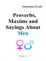 Proverbs, Maxims and Sayings About Men
