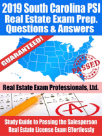 2019 South Carolina PSI Real Estate Exam Prep Questions, Answers & Explanations