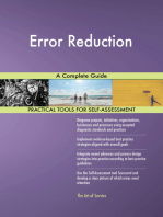 Error Reduction A Complete Guide
