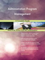 Administration Program Management A Complete Guide