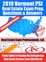 2019 Vermont PSI Real Estate Exam Prep Questions, Answers & Explanations