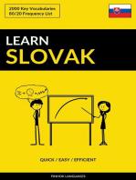 Learn Slovak