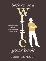 Before You Write Your Book