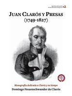 Juan Clarós y Presas (1749-1827): Monografía dedicada a Clarós y su tiempo