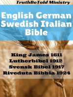 English German Swedish Italian Bible