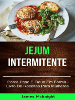 Jejum Intermitente - Perca Peso E Fique Em Forma - Livro De Receitas Para Mulheres