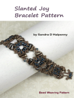 Slanted Joy Bracelet Pattern