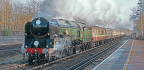 Clan Line Hauls Royal Train And Pacific's 70th Birthday Marked