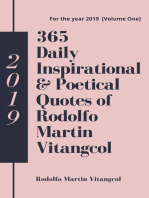 365 Daily Inspirational & Poetical Quotes of Rodolfo Martin Vitangcol