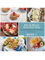 Week 1 – Mix & Match Keto Diet Plan – 28 Interchangeable Recipes