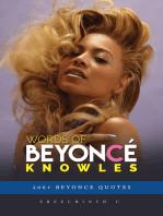 Words of Beyonce Knowles