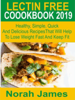 Lectin Free Cookbook 2019 Healthy, Simple, Quick And Delicious Recipes That Will Help To Lose Weight Fast And Keep Fit