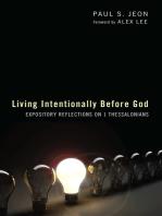 Living Intentionally before God