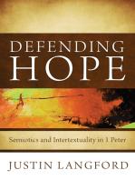 Defending Hope: Semiotics and Intertextuality in 1 Peter