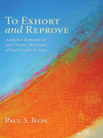 To Exhort and Reprove