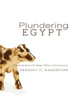 Plundering Egypt