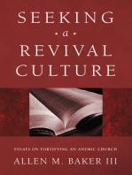 Seeking a Revival Culture