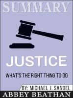 Summary of Justice