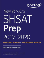 New York City SHSAT Prep 2019-2020