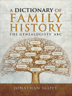 A Dictionary of Family History