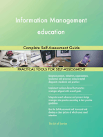 Information Management education Complete Self-Assessment Guide