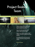 Project finance Team Standard Requirements