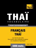 Vocabulaire Français-Thaï pour l'autoformation
