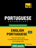 Brazilian Portuguese Vocabulary for English Speakers: 7000 Words