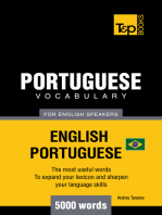 Brazilian Portuguese Vocabulary for English Speakers: 5000 Words