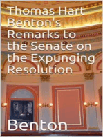 Thomas Hart Benton's Remarks to the Senate on the Expunging Resolution