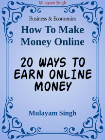 20 WAYS TO EARN ONLINE MONEY: Killing ideas of earning money from home(100% working)