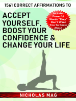 1561 Correct Affirmations to Accept Yourself, Boost Your Confidence & Change Your Life