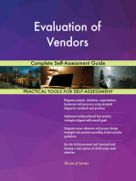 Evaluation of Vendors Complete Self-Assessment Guide