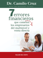 7 errores financieros que comenten los empresarios del multinivel y venta directa