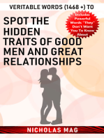 Veritable Words (1468 +) to Spot the Hidden Traits of Good Men and Great Relationships