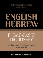 Theme-based dictionary British English-Hebrew