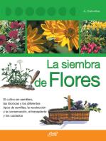 La siembra de flores