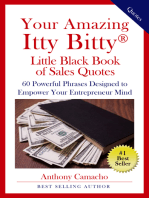 Your Amazing Itty Bitty® Little Black Book Of Sales Quotes