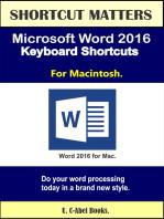 Microsoft Word 2016 Keyboard Shortcuts For Macintosh
