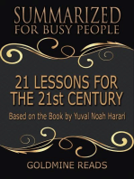 21 Lessons for the 21st Century - Summarized for Busy People