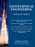 Geotechnical Engineering Selective Topics