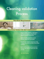 Cleaning validation Process Standard Requirements