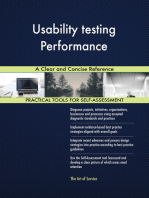 Usability testing Performance A Clear and Concise Reference
