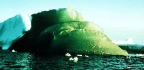 Does Iron Oxide Turn Blue Icebergs Green?
