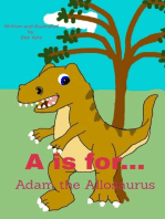 A is for... Adam the Allosaurus